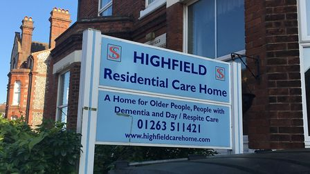 Highfield Residential Care Home, in St Mary's Road, Cromer, closed after being rated inadequate. Pho