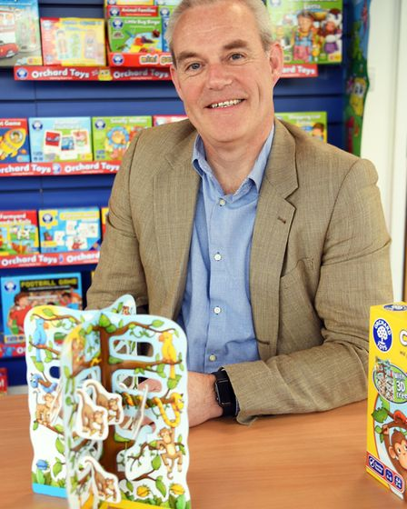 Simon Newbery, managing director, at Orchard Toys at Wymondham. Picture: DENISE BRADLEY