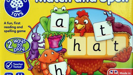 A best-seller in Orchard Toys' top products, Match and Spell. PICTURE: Denise Bradley