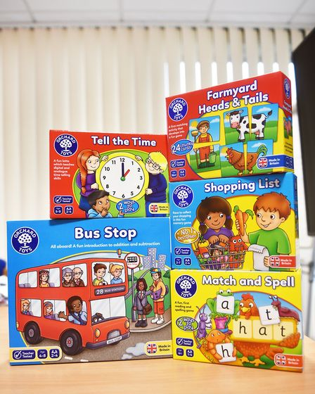 Some of Orchard Toys' best-selling games. Pic: Archant