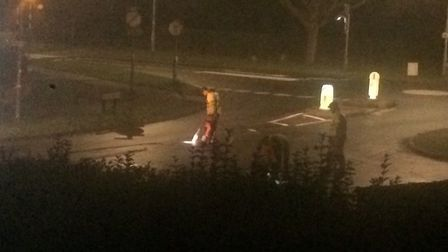 Late night workers on Thunder Lane in Norwich. Pic: Submitted