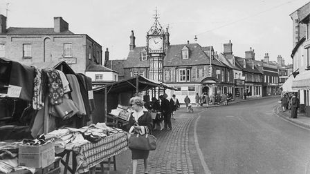 Downham Market , street scene on a market day. Dated 24th November 1967. Picture: Archant