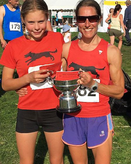 Bungay Black Dog Jo Andrews with her daughter Tess. Picture: Ken Hurst