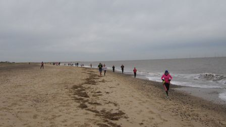 Runners beside the sea. PHOTO: Andy Trohear