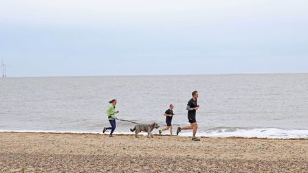 The first beach-based Parkrun in Norfolk. PHOTO: Great Yarmouth Borough Council