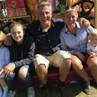Robert Edwards with family Ocean, Indi, wife Keely and Robert Jnr. Photo: Neil Perry