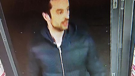 Police have released a CCTV image of a man they would like to speak with in connection with fraud. P
