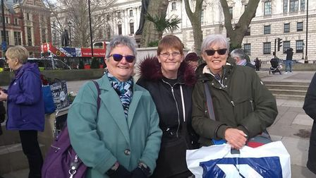 Members of a Norfolk pensions action group joined activists for a demonstration at the Department fo