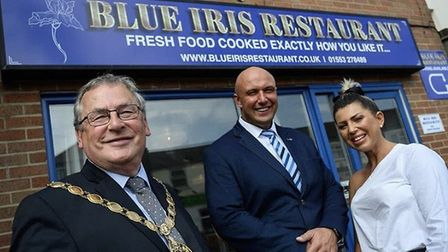 The Blue Iris restaurant, when it opened last year. The business is now for sale. Pic: Archant libra