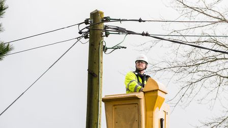 Engineers are working to reconnect homes in Norfolk and Suffolk amid high winds. Picture: UK Power N