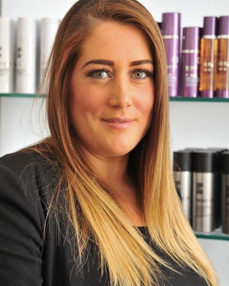 Deb Dominic owner of Hairsmiths in Norwich. Photo: Simon Finlay