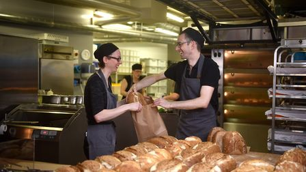Timberhill Bakery. Mike Sweetman and Natalie Stringer.Picture: ANTONY KELLY