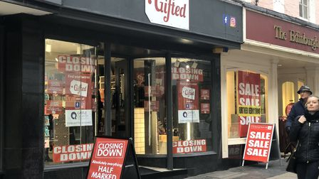Gifted in London Street will close at the end of January. Picture: Archant
