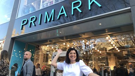 Philippa Nibbs, director of sales for UK, south and east outside the new Primark store in Norwich. P