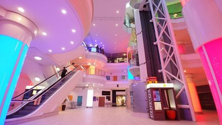Castle Quarter, where former shops are being used for leisure purposes. Pic: Archant