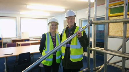 Swaffham junior school is set to become Swaffham CE Primary Academy from September 2020. Pictured (l