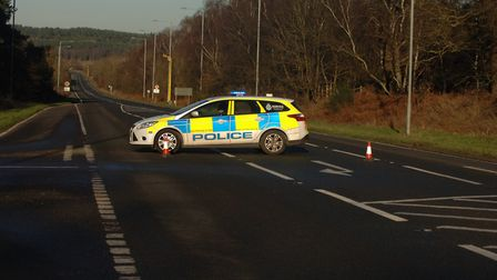 The A149 is currently closed between Bablingley and Knights Hill after a lorry overturned. Photo: Ch