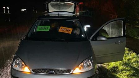 A silver Ford was seized by police in north Suffolk on Friday, January 17 as it was being driven wit