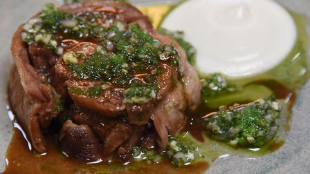 Lamb belly, artichoke and salsa verde at the Socius Restaurant at Burnham Market, which is one of 20