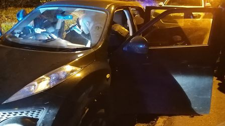 A black Nissan Juke was seized by police. Picture: NSRAPT.