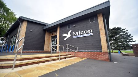 Falcon Junior School, Norwich, which is shut today due to flooding issues. PICTURE: Jamie Honeywood