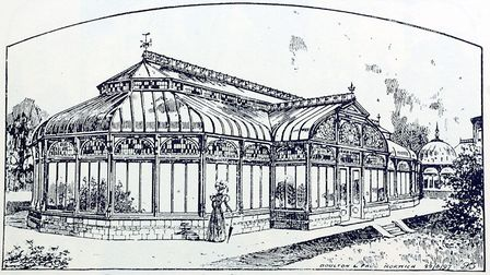 An illustration dated June 22, 1897, from Boulton & Paul's catalogue showing the conservatory at Car