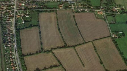 More than 250 homes could be build off Yaxham Road and Dumpling Green in Dereham. Picture: Google