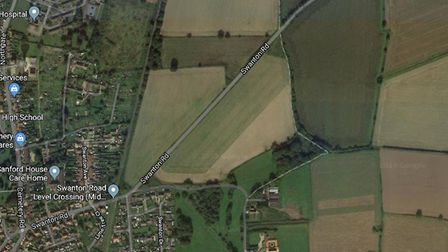 Plans to build 216 homes off Swanton Road in Dereham have been approved. Picture: Google