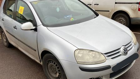 Police seized a VW Golf on Yaxham Road, Dereham, for the third time in three months. Picture: Norfol