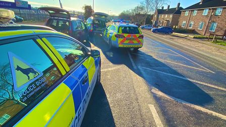 A man has been arrested after police stopped in car in the Hall Road area of Norwich on Monday Janua