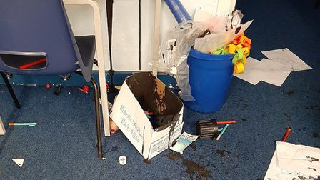 Swaffham CE Junior Academy was broken into and vandalised by burglars. Picture: Norfolk Constabulary