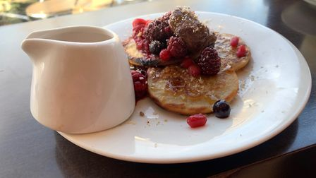The berry pancakes at Nourish in Norwich. Picture: Stuart Anderson