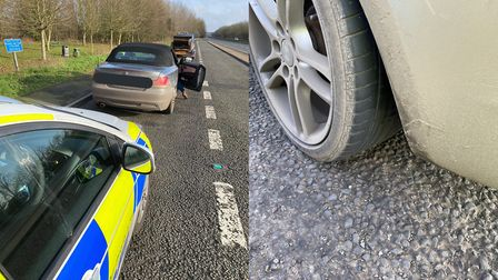 A BMW was clocked travelling at 95mph on A47 at Dereham. There were three child passengers and an un