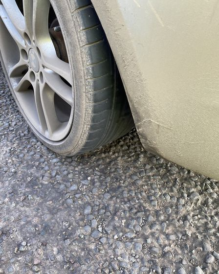 The BMW had a bald tyre. Picture: Breckland police