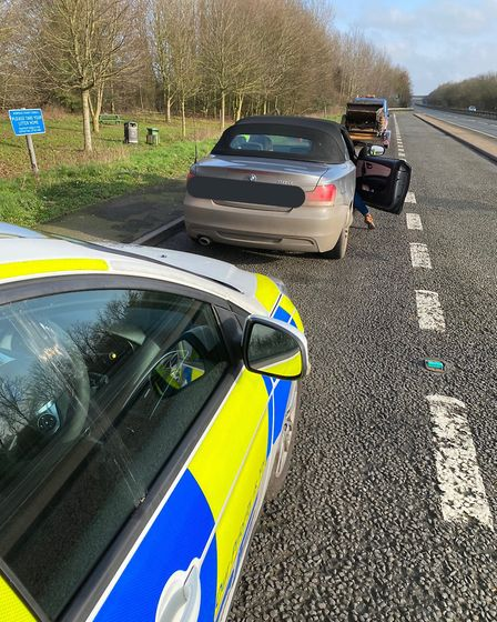 A BMW was clocked travelling at 95mph on A47 at Dereham. Picture: Breckland police