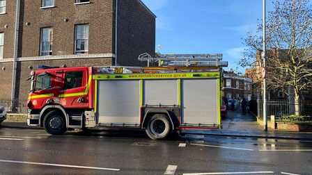 Crews tackled a serious building fire on London Road in King's Lynn. Picture: Sarah Hussain