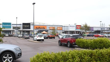 A general view of the North Quay Retail Park in Lowestoft. Pictures: Mick Howes