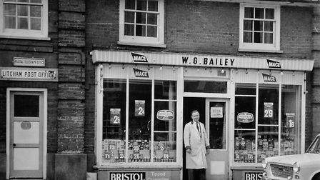 Gordon Bailey of Litcham – who put fun into shopping when he ram the village stores and post office.