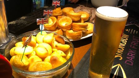 Some of the British food on offer at the EU leaving party at The Railway Tavern in Dereham. Picture: