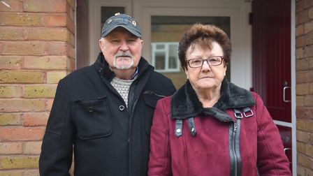 Trevor and Pauline Goss, who had to live in a Holiday Inn for eight weeks Pictures: Brittany Woodma