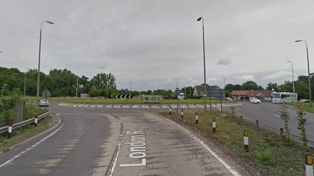 The incident took place at the Stag Roundabout on the A11 at Attleborough. Picture: Google.