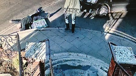 CCTV footage of the incident shows Robin Wetherall laying unconscious in the road after being pushed