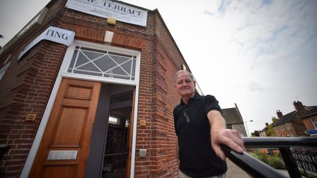 Robin Wetherall, owner, outside the old Barclays Bank which he transformed into a restaurant. Pictur