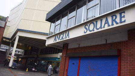 """The entrance to Anglia Square was described as like """"some sort of hostile watchtower"""". Picture: DENI"""