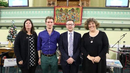 Candidates for North Norfolk in the 2019 General Election at a hustings at Stalham Baptist Church, f