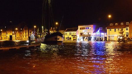 The flooded quay at Wells in December 2013. Picture: Ian Burt