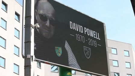 Tributes were paid to Norwich City fan David Powell at the club's home game with Chelsea earlier thi