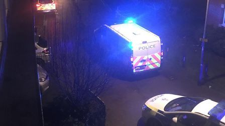 Police at the scene in Southalls Way, Norwich. PIC: Submitted.