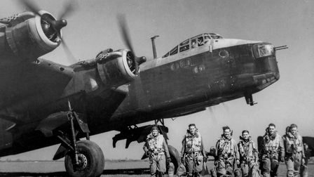 A Short Stirling bomber and its crew Picture: Archant archive