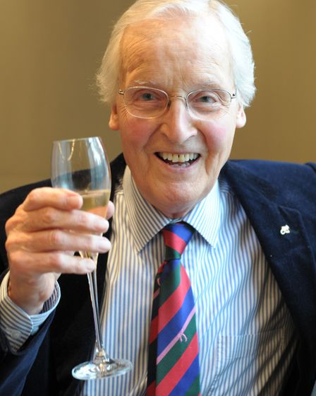 Nicholas Parsons attending a tribute lunch for Graham Norton hosted by The Lady Taverners at the Dor